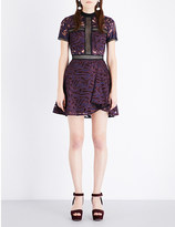 Self-Portrait Eliza cutout embroidered dress