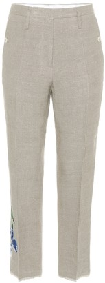 Golden Goose Embroidered linen trousers