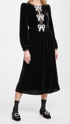 Saloni Camille Bows Dress