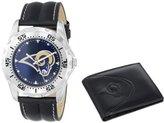"Game Time Men's NFL-WWS-STL ""Watch & Wallet"" Watch - St. Louis Rams"