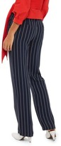 Topshop Women's Stripe Wide Leg Trousers