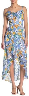 Kensie Floral Sleeveless High/Low Dress