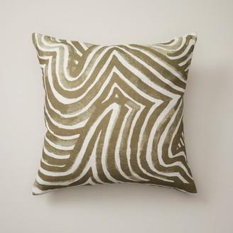 "Oui Maze Pillow Cover Mermaid Green 18"" X 18"""