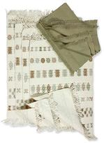 Cotton placemat and napkin set (Set of 4), 'Iconic Maya'
