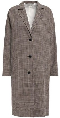 Masscob Belted Prince Of Wales Checked Cotton-blend Coat