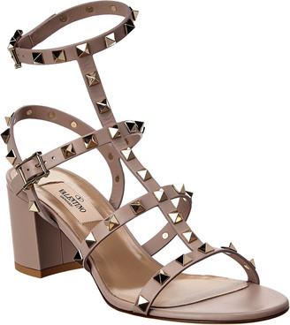 Valentino Rockstud 60 Ankle Strap Leather Sanda