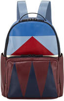 Valentino Geometric Paneled Leather Backpack