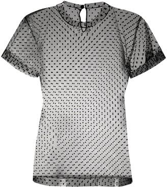 Maison Margiela polka dot mesh T-shirt
