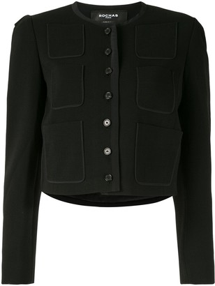 Rochas Cropped Collarless Jacket