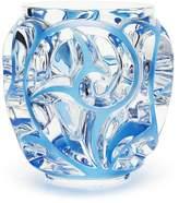 Lalique Tourbillons Vase Small, Blue