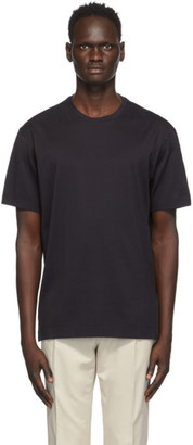 Ermenegildo Zegna Black Cotton Jersey Oversized T-Shirt