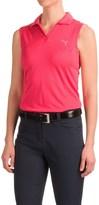Puma Polka Stripe Polo Shirt - UPF 50+, Sleeveless (For Women)