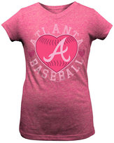 5th & Ocean Girls' Atlanta Braves Baseball Heart T-Shirt