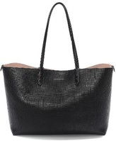 Alexander McQueen Medium Calfksin Leather Shopper - Black