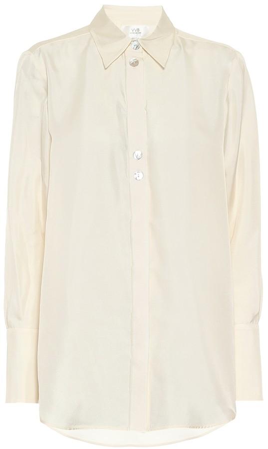 Victoria Victoria Beckham Embellished silk shirt