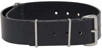 N.Hoolywood Grey Leather Bracelet