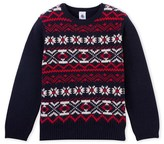 Petit Bateau Boys wool and cotton jacquard sweater