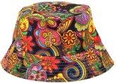 Surker 2016 Women Floral Printed Outdoor Portable Sun Hat Bucket Hat Fisherman cap