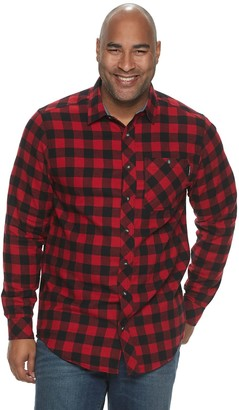 Timberland Big & Tall Regular Fit Flex Flannel Shirt