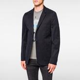Paul Smith Men's Mid-Fit Dark Navy Brushed-Cotton Patch-Pocket Blazer