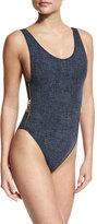 OYE Swimwear Zissou Zipper-Side One-Piece Swimsuit