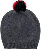 Dolce & Gabbana knitted hat - kids - Rabbit Fur/Virgin Wool - 48 cm