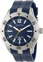Nautica Men's Nst 401 N14641G Rubber Quartz Watch with Dial