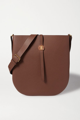 Burberry Textured-leather Shoulder Bag - Brown