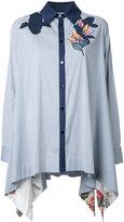 Antonio Marras appliqué long shirt - women - Cotton/Nylon/Spandex/Elastane - 44