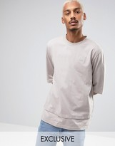 Puma Oversized Double Hemmed T-Shirt In Beige Exclusive to ASOS