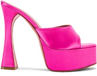 Amina Muaddi MUADDI Dalida Satin Sandal in Pink | FWRD