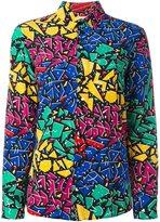 Saint Laurent Paris collar 80s graffiti shirt - women - Silk - 40