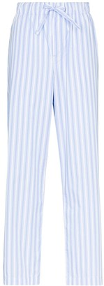 Tekla Striped Organic Cotton Pyjama Trousers
