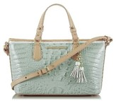 Brahmin Mini Asher Croc Embossed Leather Tote - Blue
