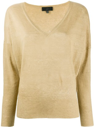 Nili Lotan fine knit V-neck jumper