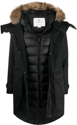 Woolrich Faux-Fur Trimmed Hood Puffer Coat