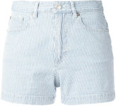 A.P.C. pinstripe shorts - women - Cotton/Spandex/Elastane - 34