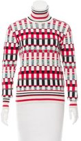 Jonathan Saunders Patterned Turtleneck Top
