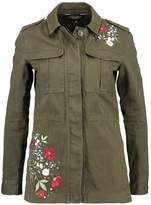 Dorothy Perkins EMBROIDERED Denim jacket khaki