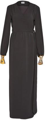 Cocoove Harvest Lilody Maxi Wrap Dress In Black