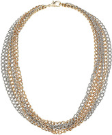 Topshop Chunky Three Row Chain Necklace