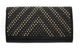 Fashion to Figure Cassidy Gold Stud Clutch
