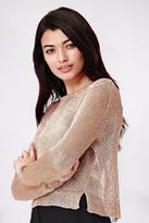 Yumi Rosegold Lurex Jumper