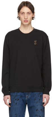McQ Black Embroidered Swallow Sweatshirt