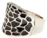 Ariella Collection Crystal Pave and Pattern Enamel Ring