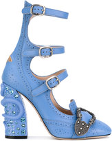 Gucci Queencore brogue pumps - women - Calf Leather/Leather - 37.5