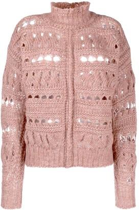 Isabel Marant Funnel-Neck Knitted Jumper