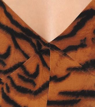 Norma Kamali Exclusive to Mytheresa a Tiger-print jumpsuit