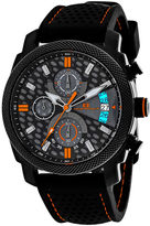Oceanaut Kryptonite Mens Orange & Black Rubber Strap Watch