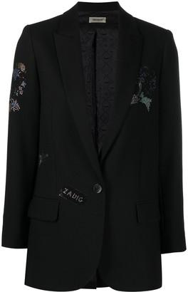 Zadig & Voltaire Sequinned Floral Blazer Jacket